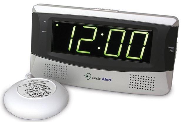 Deaf Alarm Clock Hard Of Hearing Vibrating Alarm Clock