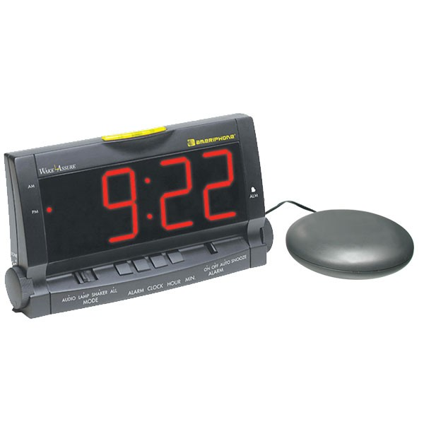 Alarm clock for deaf vibrator