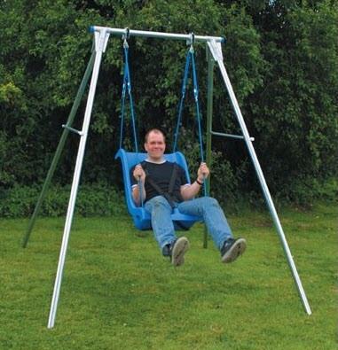 Pediatric swings swing frames special needs swing on for Indoor swing seat